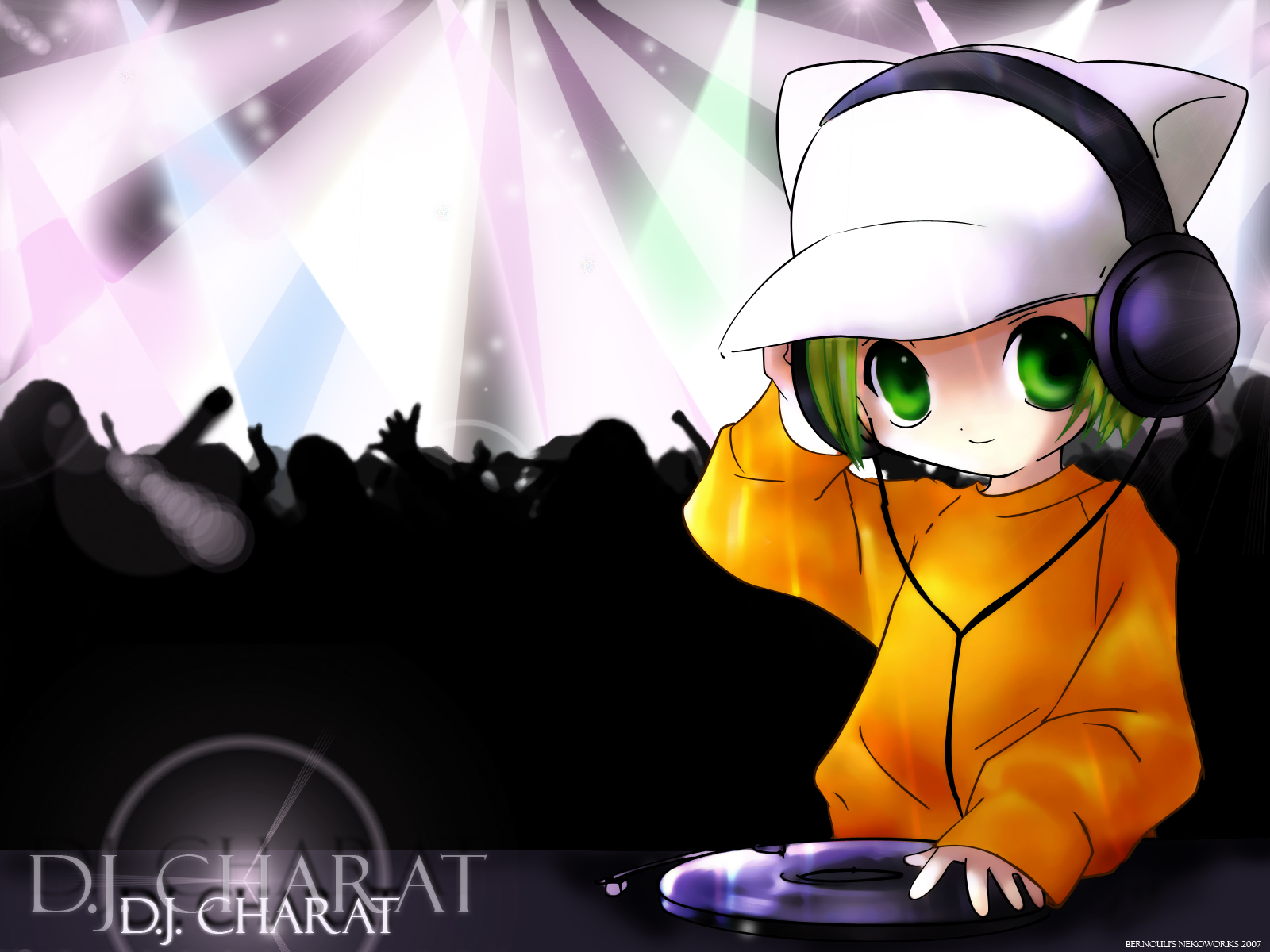 DJ Anime Girl With Headphones